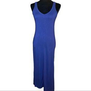 Old Navy V-neck Maxi Dress Blue XS